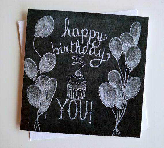 25 Unique Happy Birthday Chalkboard Ideas On Pinterest