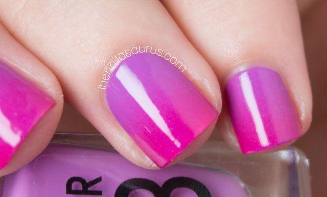 Hot Pink Gradient Nail Art // The Nailasaurus