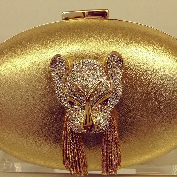 A bespoke ADRIANNE clutch only available at @Harvey Miedreich Miedreich Nichols Dubai...  Photo courtesy of Harvey Nichols Dubai.  #thaleblanc