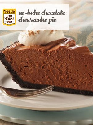 No-Bake Chocolate Cheesecake Pie