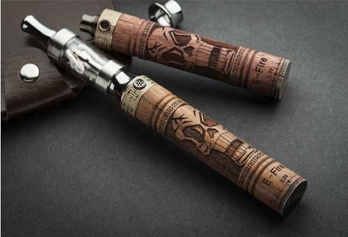 peruvapea - cigarro electrónico visión tallado en madera