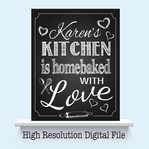 Kitchen chalkboard art with stylish text.