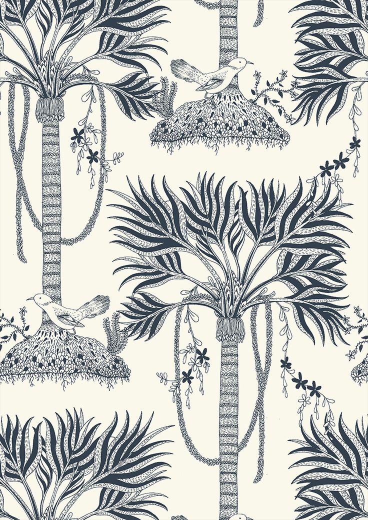pattern by Minakani #palmtree #minakani