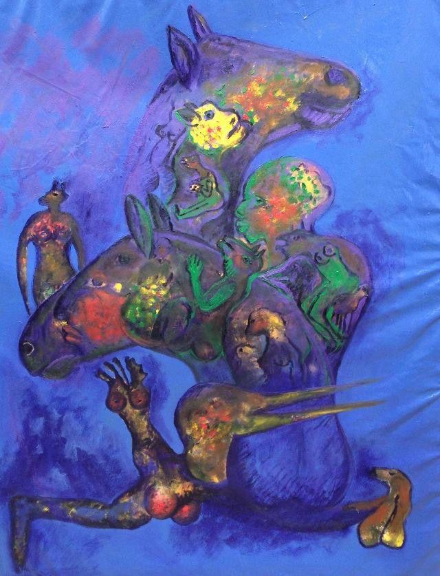 Luis Geraldes. After Bali VIII. Oil on canvas. 152x122cm.