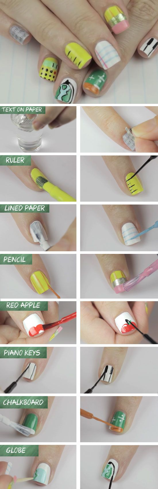 Classroom Objects | DIY Back to School Nails for Kids | Awesome Nail Art Ideas for Fall