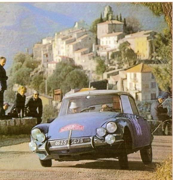 1966 MONTE CARLO RALLY - Citroen DS21. Drivers: Pauli Toivonen / Ensio Mikkander. Place: 1st o/a.