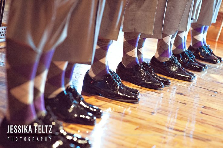 matching socks for groomsmen, purple argyle socks