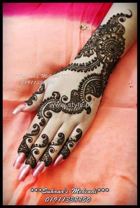 Mehndi Designs 2013 For Girls in Pakistan 004