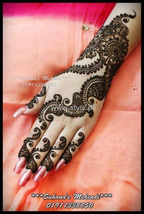 Mehndi Designs 2013 For Girls in Pakistan 004