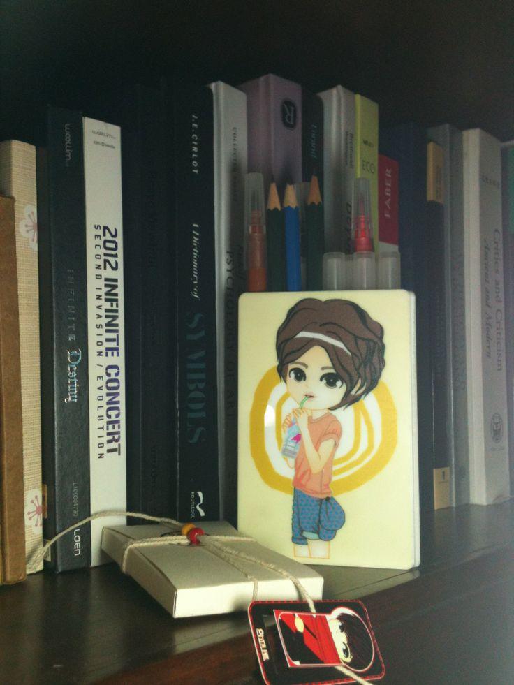 pencil BOX   standing CARD acrylic   created by +RATNA HAR (Little Lumut)