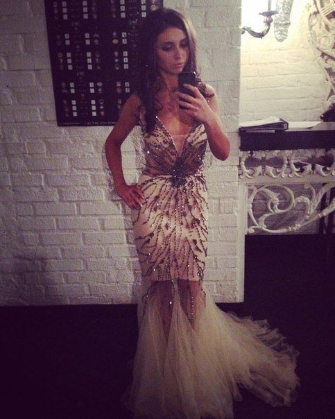 Long Evening Dress with Beading