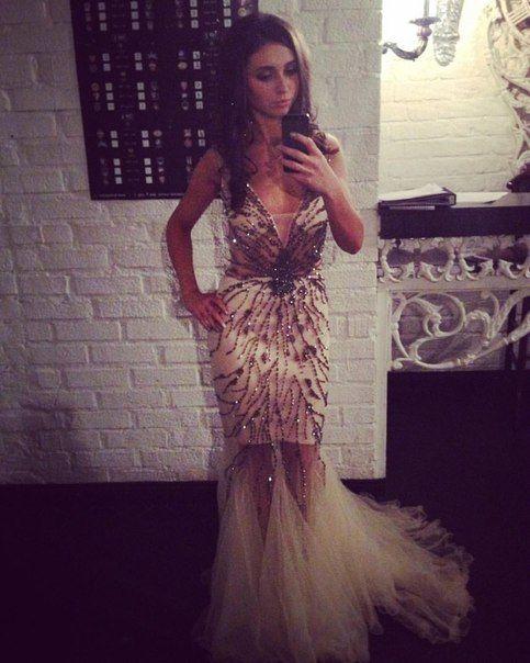 Long Evening Dress with Beading