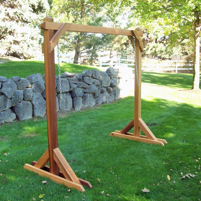 Hammock Swing Stand Frame | Wine Country Cedar Porch Swing at Brookstone—Buy Now!