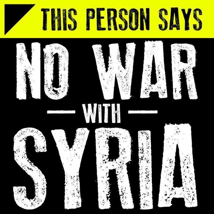 NO WAR.