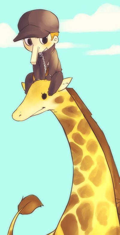 kaku and a giraffe and the sky by ~021 on deviantART