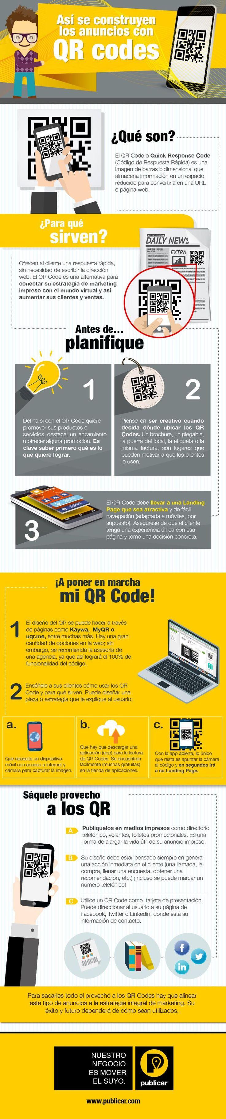Cómo hacer anuncios con Códigos QR #infografia #infographic #marketing Ideas Negocios Online para www.masymejor.com