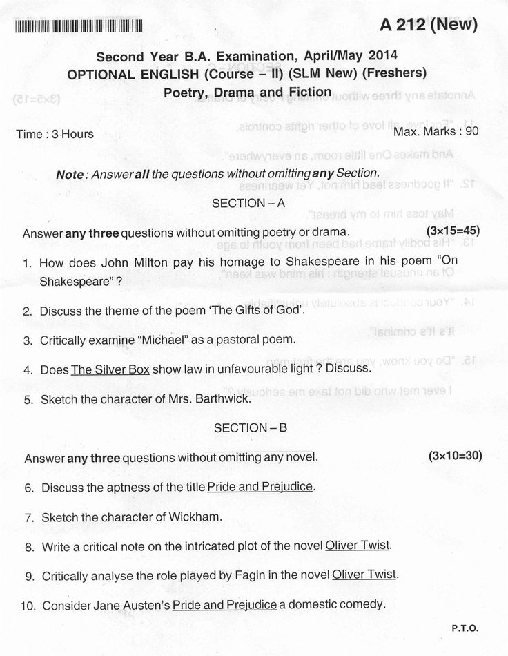 83 best exam question papers karnataka images on pinterest optional english new scheme 2nd year ba 2014 1 of 2 question paperenglish malvernweather Choice Image