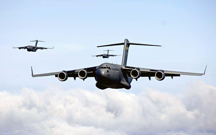 The C-17 Globemaster, similar to the C-130 Hercules