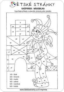 Kašpárek - násobilka pěti