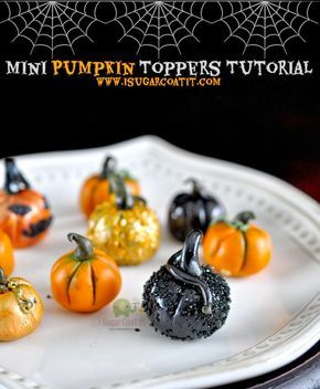 Quick & Easy Mini Pumpkin Topper Tutorial.