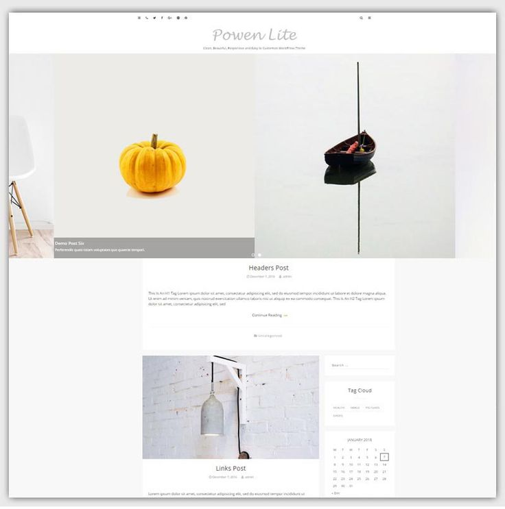 powen theme gratuit WordPress  responsive boutique