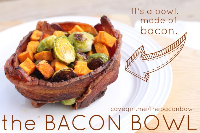 The Bacon Bowl - Now THIS would be fun to make for dinner :-)
