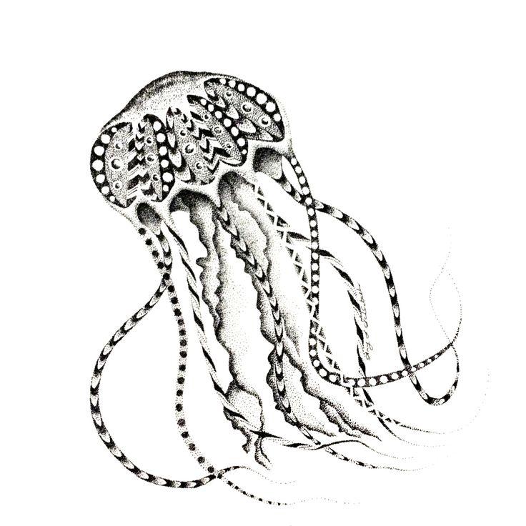 POINTILLISM jellyfish print by StudioAmyLynn on Etsy https://www.etsy.com/listing/262582009/pointillism-jellyfish-print