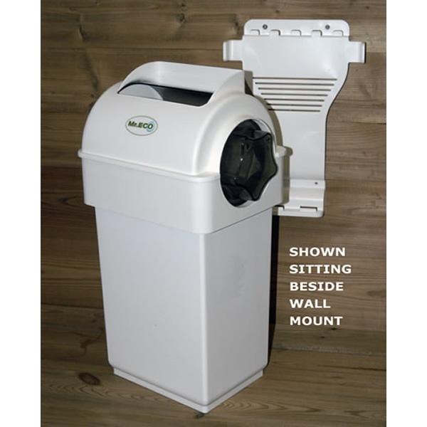 exaco mreco eco composter kitchen caddy compost in white