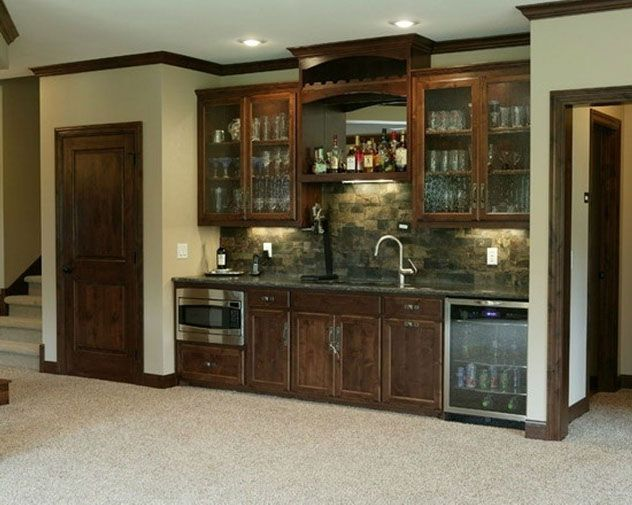 Wet bar idea for your basement. #basementbar www.HomeChannelTV.com