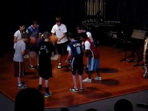 ▶ Basket Ball Stomp Crescent View Middle School Percussion - YouTube