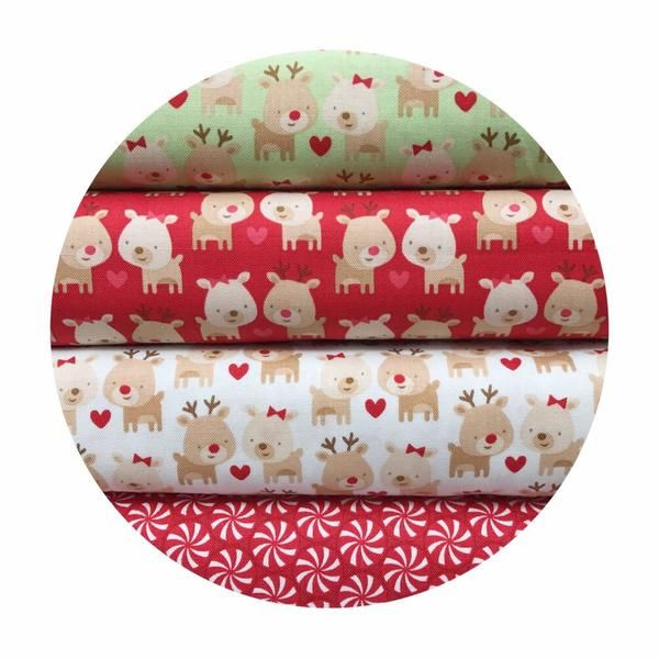 4 Fat Quarter Bundle - Home for the Holidays Collection - Riley Blake  – Pins & Needles Fabrics