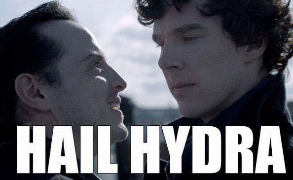 Moriarty You Villain - The Best of the 'Hail Hydra' Meme - Zimbio