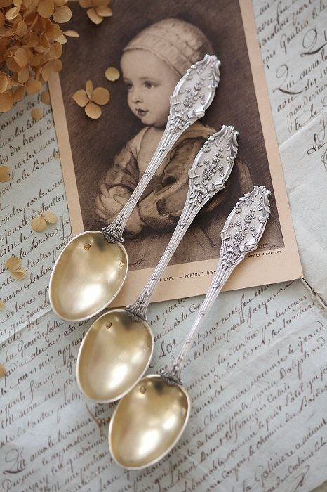 French silver spoons