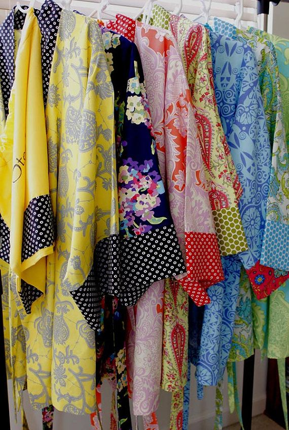 Longer Robe - Kimono Robe - Bath Robe - Bridesmaids Gift Robe - Select your favorite fabric.