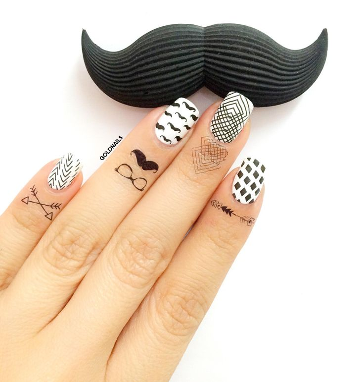 The 25 best hipster nail art ideas on pinterest black dot nails hipster nail art design using moyou london hand tattos and stamping plates prinsesfo Choice Image