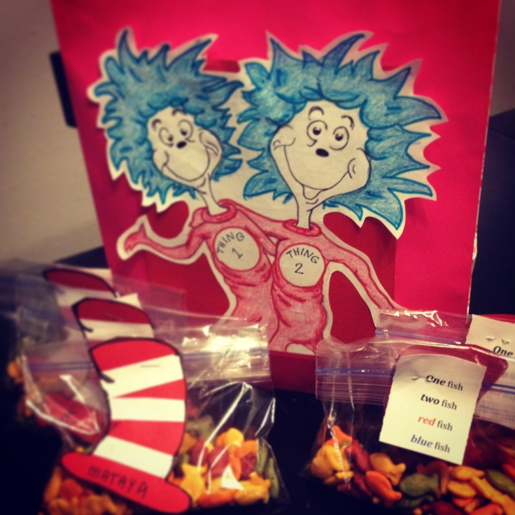 Dr Seuss classroom treats. Great idea for open house!