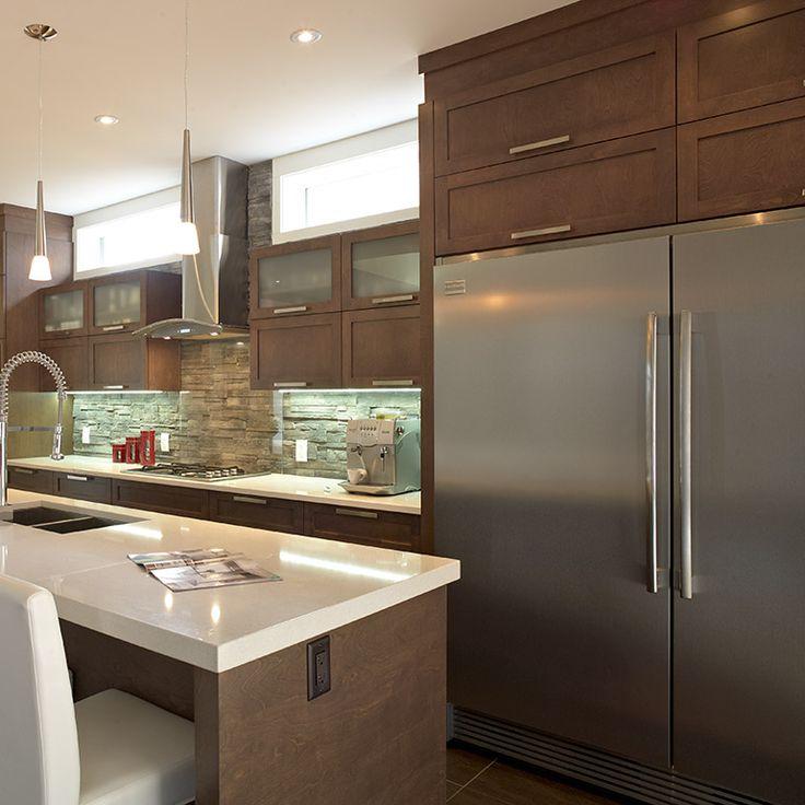 section refrigerateur de la cuisine contemporaine