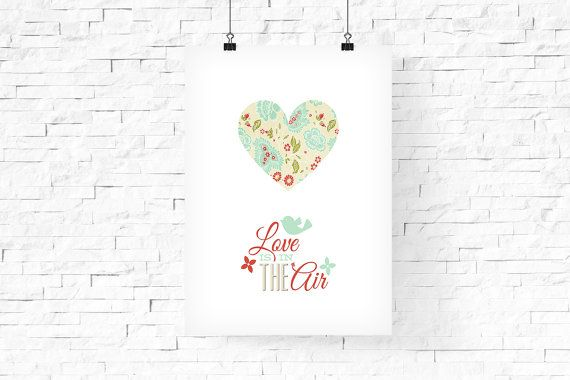 Valentine's Day Poster Love is in the air poster by FPD3sign