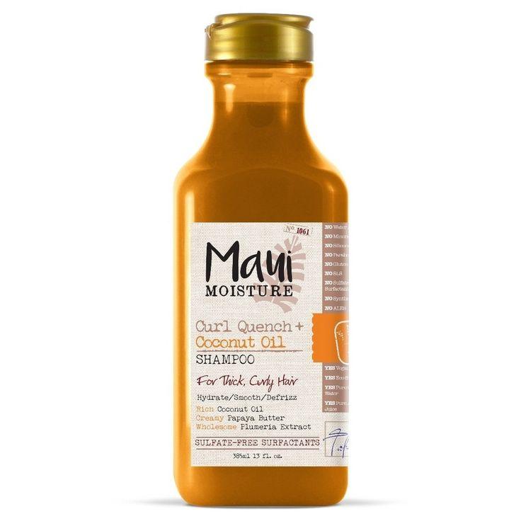 Maui Moisture Curl Quench + Coconut Oil Shampoo for Thick Curly Hair 13 oz