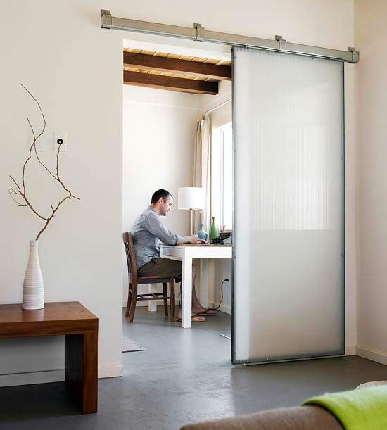 Industrial-Inspired Sliding Door