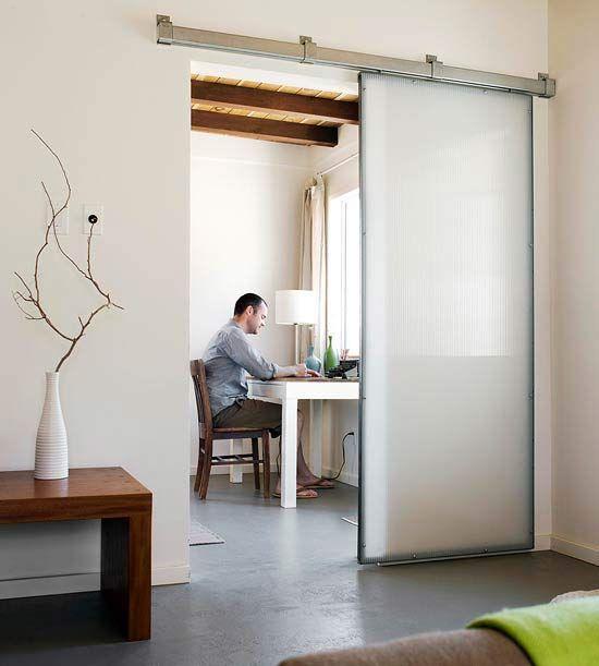 Industrial-Inspired Sliding Door
