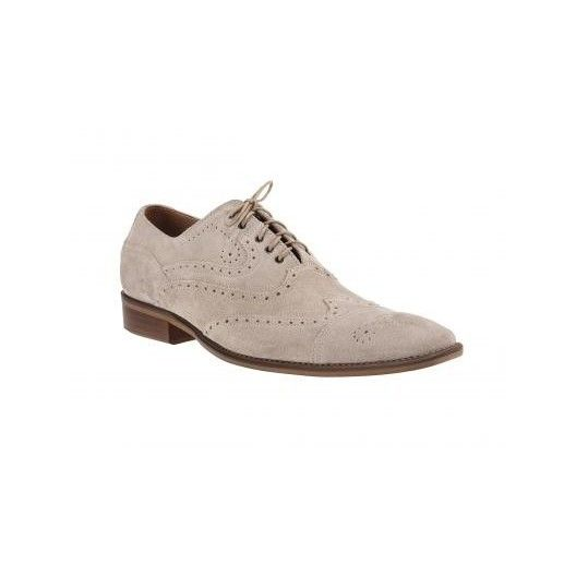 Športovo elegantné pánske topánky z brúsenej kože slonovinovej farby ComodoEsano s hnedou podrážkou - fashionday.eu