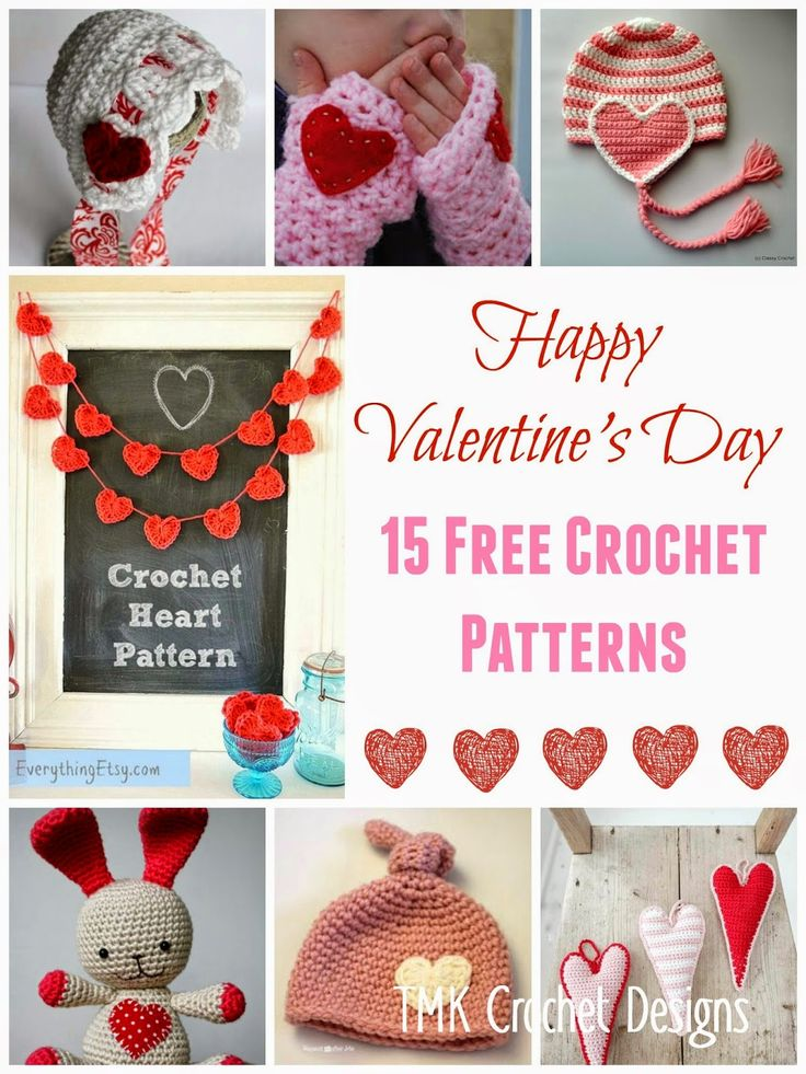 Valentine s Day Crochet Patterns : Free Crochet Pattern Round-Up Valentines Day! Heart, hats ...