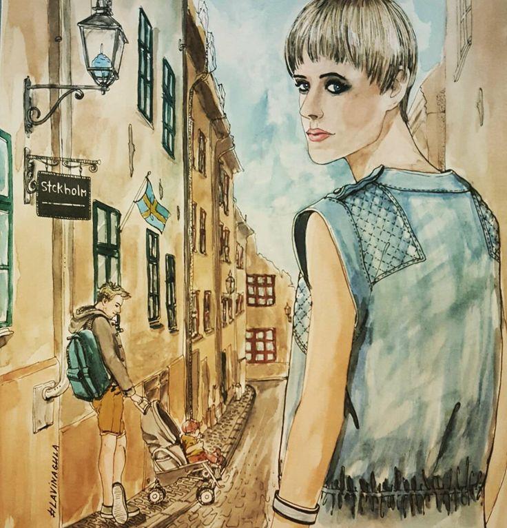Stokholm Suwalook Looksuwa Looksuwacoloring Suwa Suwacoloringbook Fashionwatercolor Fashion Coloring Coloringbook Coloringforadults
