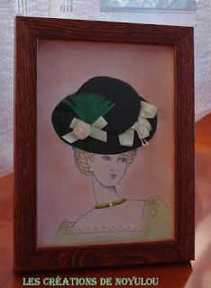 LES CREATIONS DE NOYULOU: Tableau carton mousse : Chapeau