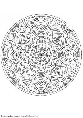 Coloring page mandala-1702k