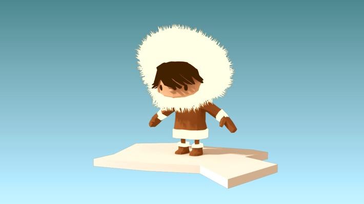 'Eskimo' a short animation by mookx by Siebe Janssen, via Behance