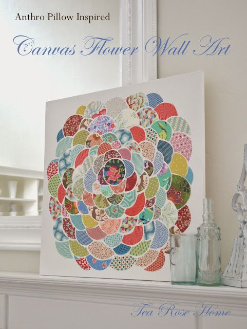 Gorgeous Anthropologie Inspired Wall Art  - this is so perfect for using up scraps!
