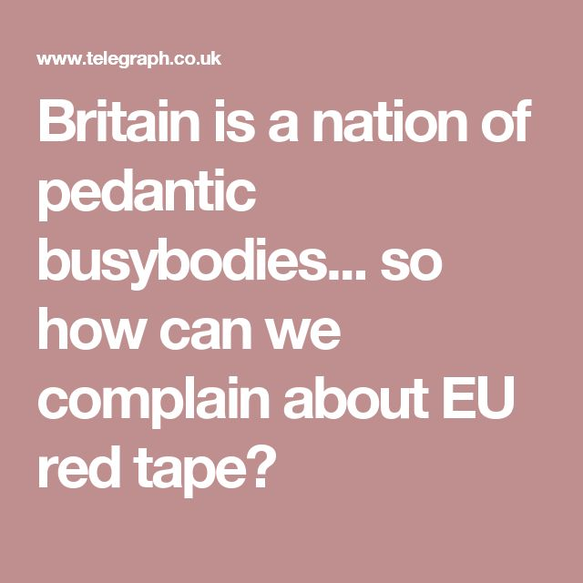 Britain is a nation of pedantic busybodies... so how can we complain about EU red tape?