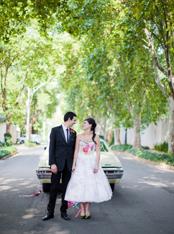 unusual wedding photos ideas%0A OBSESSED with this colored wedding dress  by Arwen corsetry
